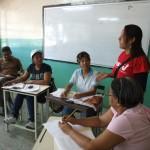 MIlitantes  del municipio Libertador junto a la diputada Rosa Leon